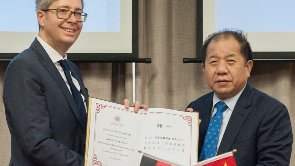 Prof. Gianaurelio Cuniberti appointed as Guest Professor at Shanghai Jiao Tong University